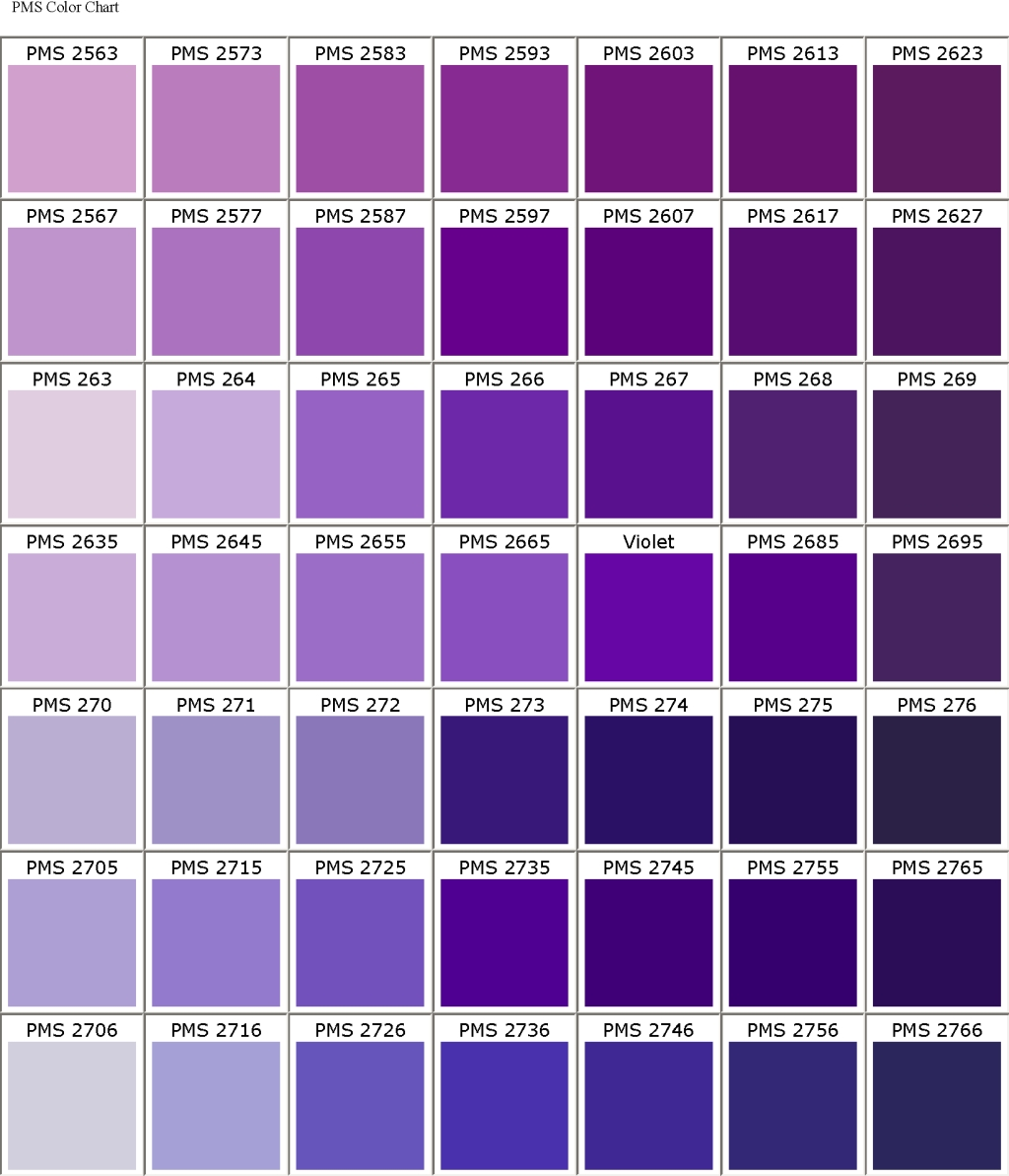 amethyst color chart - photo #2